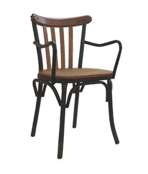 صندلی دسته دار فلزی برسو