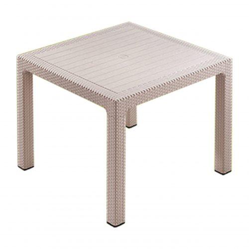 میز مربع بوستون حصیری