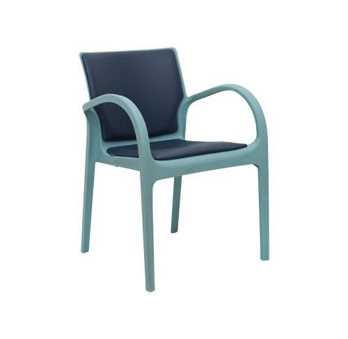 صندلی دسته دار دژاوو با تشک کف و پشت