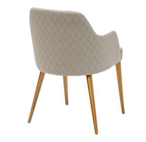 صندلی دسته دار ونیز پشت دایموند با پایه دایکاست آلومینیومی